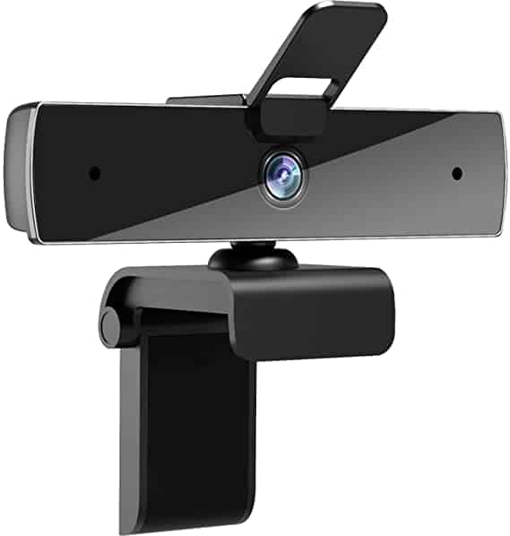 Qtniue Webcam with Mic and Privacy Cover
