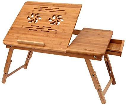 HIMIMI Bamboo wooden foldable laptop table